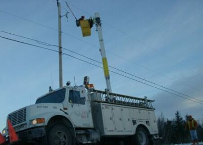 Hydro crews on the job